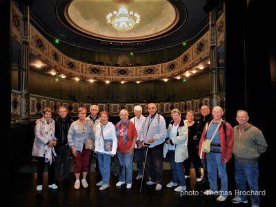 Visite guidée du théâtre de la Halle au Blé à La Flèche en vallée du Loir avec Visithemes : groupe